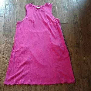 Seamed Sleeveless Knit Dress